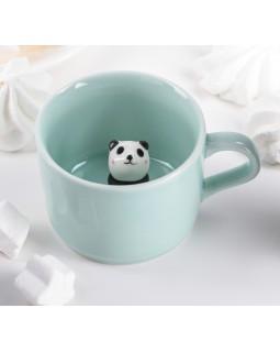 Кружка с фигуркой на дне «Панда»